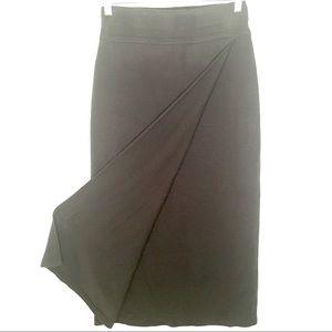 Territory Ahead Wool Sweater Wrap Skirt